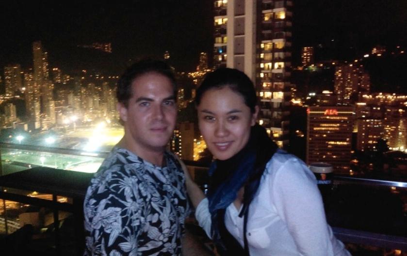 LuLu y yo en Hong Kong