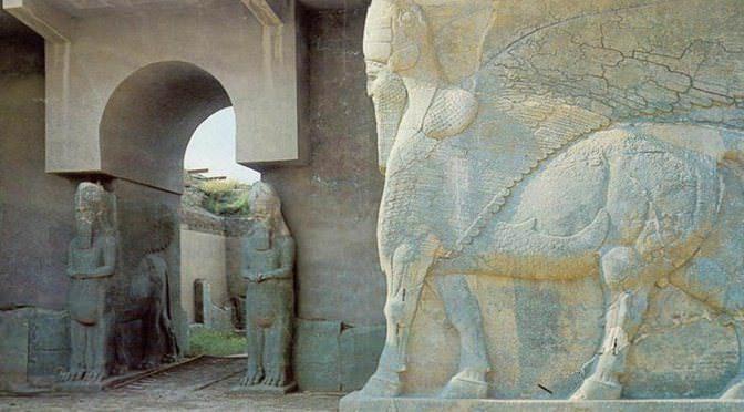 Puerta a Nimrud, antigua ciudad asiria