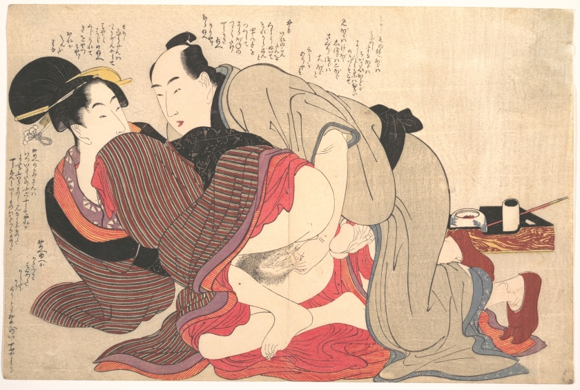 Utamaro estampa erótica