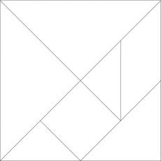 tangram blanco